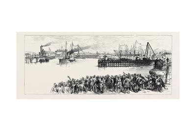 The Prince of Wales at Holyhead: View of the New Dock from the Clock Tower 1880