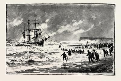The Storm on the South Coast, the Wreck of the Barque T.P. Fluger, Off St. Leonards