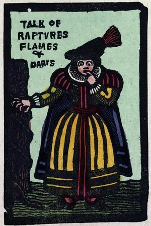 Illustration of English Tales Folk Tales and Ballads. a Woman Wearing a Yellow and Red Dress