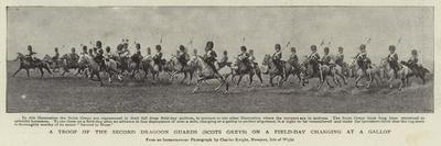 A Troop of the Second Dragoon Guards (Scots Greys) on a Field-Day Charging at a Gallop