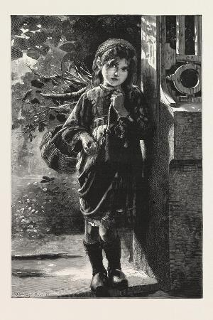 Only a Halfpenny, Please!, from the Picture by M. Perrault, 1876