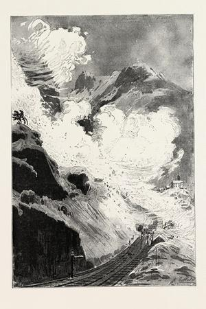 An Avalanche at Wassen, Valley of Reuss, Canton Uri, Switzerland, 1888