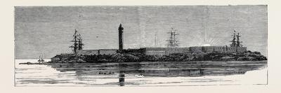 Before the Bombardment of Alexandria, July 7, 1882: Fortifications of the Lighthouse and Barracks