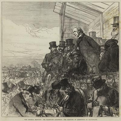The General Election, Mr Gladstone Addressing the Electors of Greenwich on Blackheath