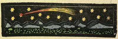 Illustration of English Tales Folk Tales and Ballads. a Shooting Star over a Range of Mountains
