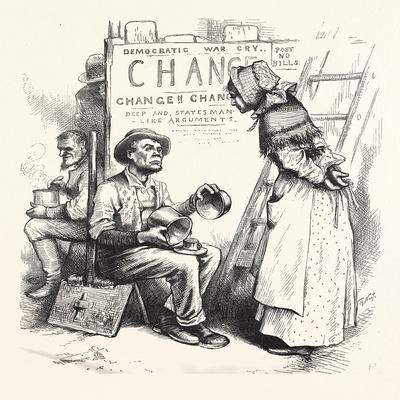 Women Never Be Statesmen, 1880, USA, America, Politics, Political, Politic, Campaign, Patriotic