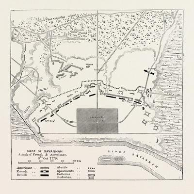 Plan of the Position before Savannah, United States of America; Siege of Savannah, USA, 1870S