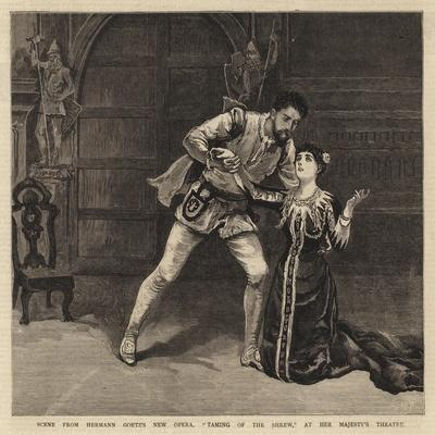 Scene from Hermann Goetz's New Opera, Taming of the Shrew, at Her Majesty's Theatre