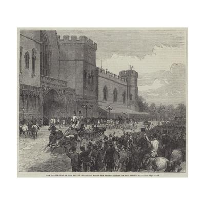 New Palace-Yard on the Day Mr Gladstone Moved the Second Reading of the Reform Bill