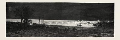 Franco-Prussian War: French Headlights Illuminating by Electric Lights the Vorterrain