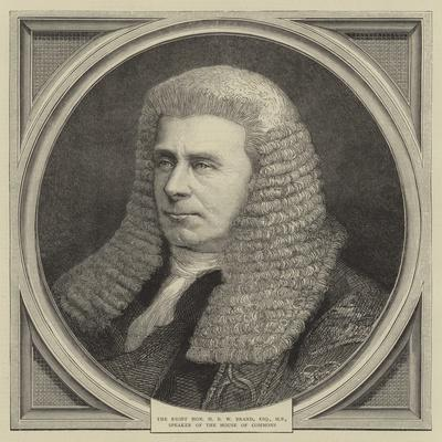 The Right Honourable H B W Brand, Esquire, Mp, Speaker of the House of Commons