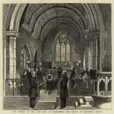 The Funeral of the Late Earl of Beaconsfield, the Service in Hughenden Church