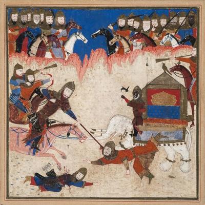 Rustam Lassos the Khaqan of China and Pulls Him from His Elephant, C.1450