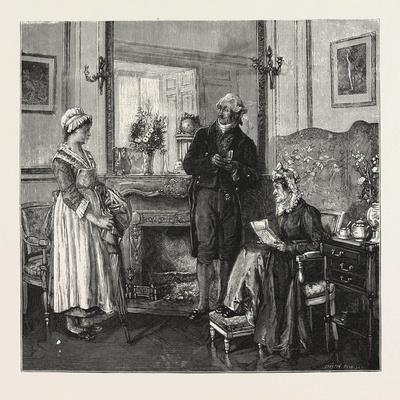 The Letter of Recommendation from the Picture by M. Leroux in the Paris Salon 1876 France