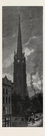 Toronto, Tower and Spire of St. James's Cathedral, Canada, Nineteenth Century