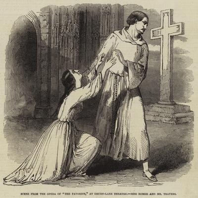 Scene from the Opera of The Favorite, at Drury-Lane Theatre, Miss Romer and Mr Travers
