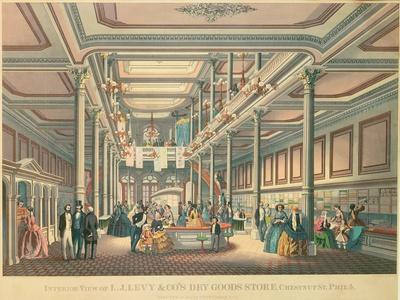 Poster Advertising 'Levy's Dry Goods Store, Philadephia', Published by L.N. Rosenthal, 1857