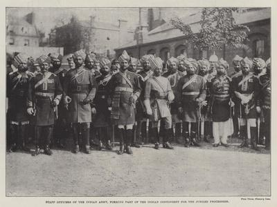Staff Officers of the Indian Army, Forming Part of the Indian Contingent for the Jubilee Procession