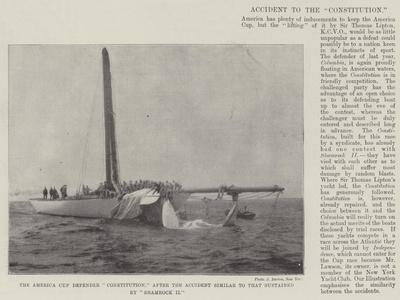 The America Cup Defender Constitution, after the Accident Similar to That Sustained by Shamrock Ii