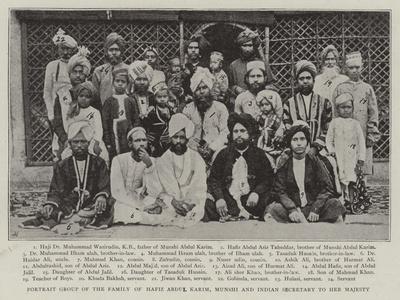 Portrait Group of the Family of Hafiz Abdul Karim, Munshi and Indian Secretary to Her Majesty