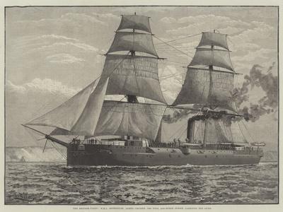 The British Fleet, HMS Imperieuse, Armed Cruiser, 7390 Tons, 8000-Horse Power, Carrying Ten Guns