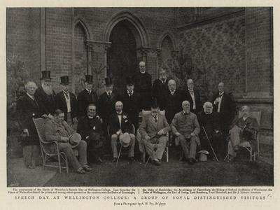Speech Day at Wellington College, a Group of Royal Distinguished Visitors