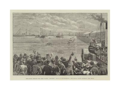 The Queen Opening the Deep Water Empress Dock at Southampton, the Royal Yacht Entering the Dock