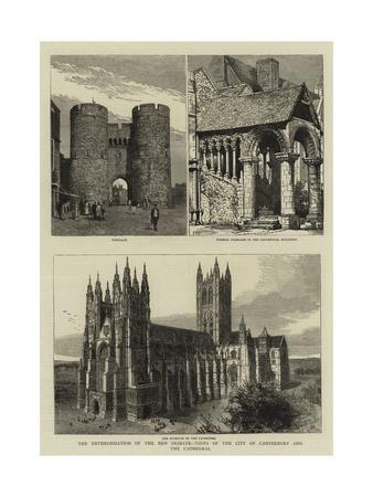 The Enthronisation of the New Primate, Views of the City of Canterbury and the Cathedral