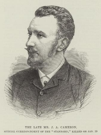 The Late Mr J a Cameron, Special Correspondent of the Standard, Killed on 19 January