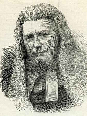 Sir Richard Paul Amphlett (1809-83) from 'The Illustrated London News' 7th February, 1874