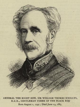 General the Right Honourable Sir William Thomas Knollys, Kcb, Gentleman Usher of the Black Rod