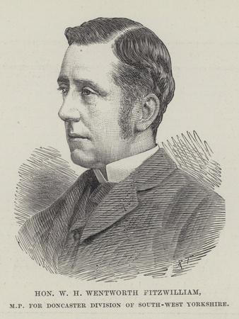 Honourable W H Wentworth Fitzwilliam, Mp for Doncaster Division of South-West Yorkshire