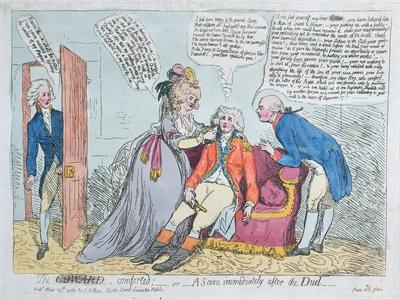 A Coward Comforted, or a Scene Immediately after the Duel, Published by J. Aitken in 1789