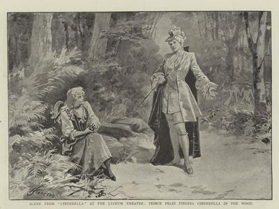 Scene from Cinderella at the Lyceum Theatre, Prince Felix Finding Cinderella in the Wood