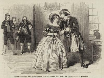 Scene from the New Comic Opera of The Queen of a Day, at the Haymarket Theatre