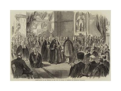Presentation of the Freedom of the City of London to Garibaldi at Guildhall