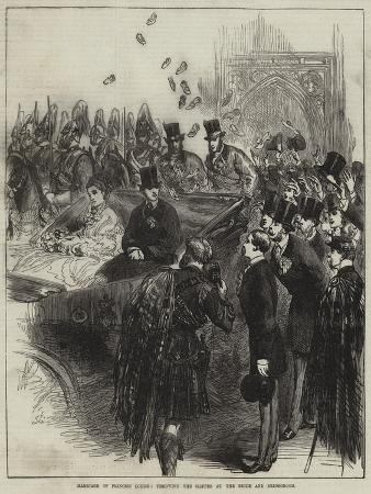 Marriage of Princess Louise, Throwing the Slipper at the Bride and Bridegroom