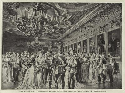 The Royal Party Assembled in the Ancestors' Hall of the Castle at Sigmaringen