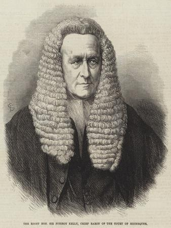 The Right Honourable Sir Fitzroy Kelly, Chief Baron of the Court of Exchequer