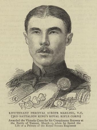 Lieutenant Percival Scrope Marling, Vc, 3rd Battalion King's Royal Rifle Corps
