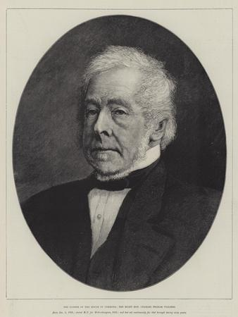 The Father of the House of Commons, the Right Honourable Charles Pelham Villiers