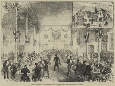 Lord Hartington at Newcastle-On-Tyne, Luncheon in the New Science and Art Schools
