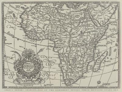 Africa before Stanley, Map of the Continent Nearly Three Hundred Years Old