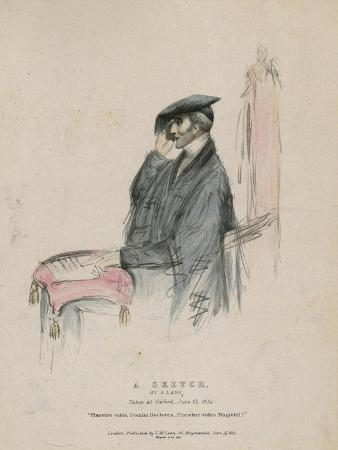 The Duke of Wellington, a Sketch by a Lady, Taken at Oxford 13 June 1834