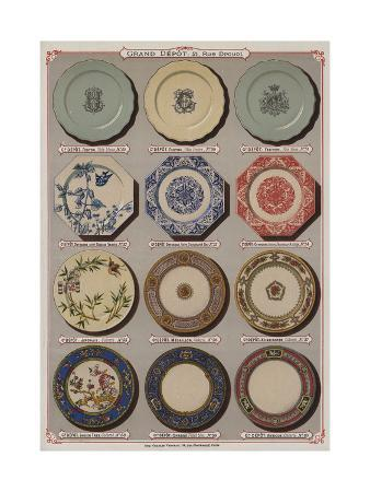 Page from the Catalogue of the Grand Depot De Porcelaines, Faiences Et Verreries