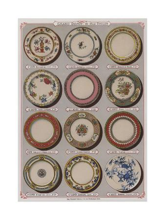 Page from the Catalogue of the Grand Depot De Porcelaines, Faiences Et Verreries