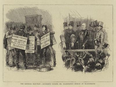 The General Election, Incidents During Mr Gladstone's Speech at Blackheath