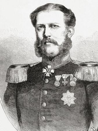 Duke William of Mecklenburg-Schwerin, from 'L'Univers Illustré', Published 1866