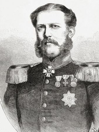 Duke William of Mecklenburg-Schwerin, from 'L'Univers Illustré', Published 1866