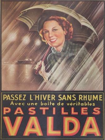 Advertisement for 'Valda' Pastilles, Published in 'Marie-Claire' Magazine, 7th January 1938